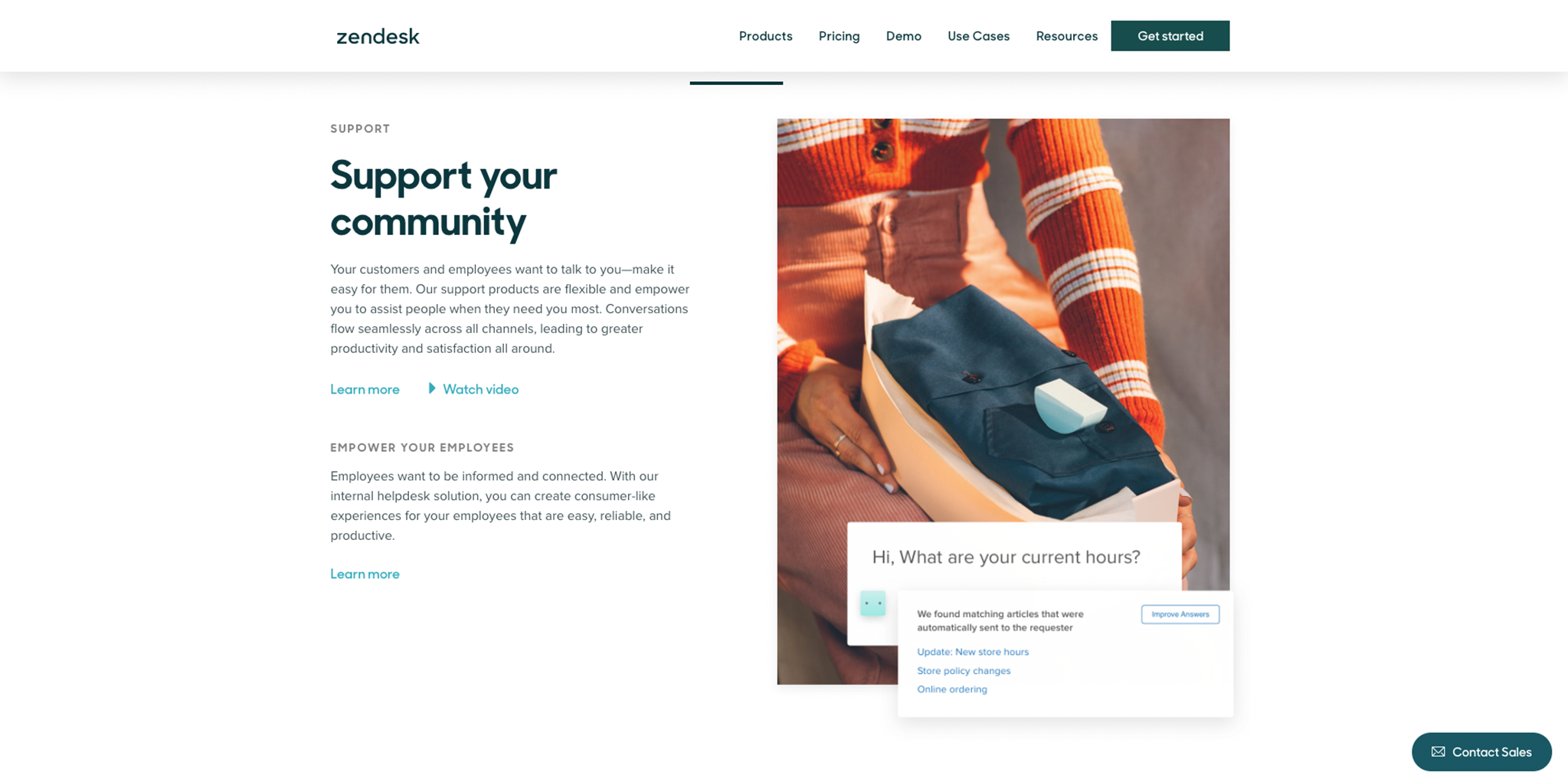 Screenshot of Zendesk image with geometric shape