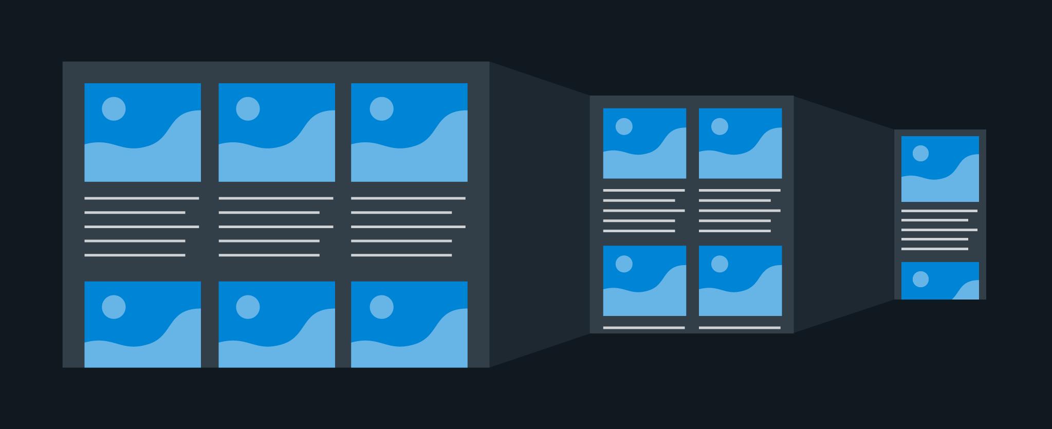 Illustration of flexible layouts