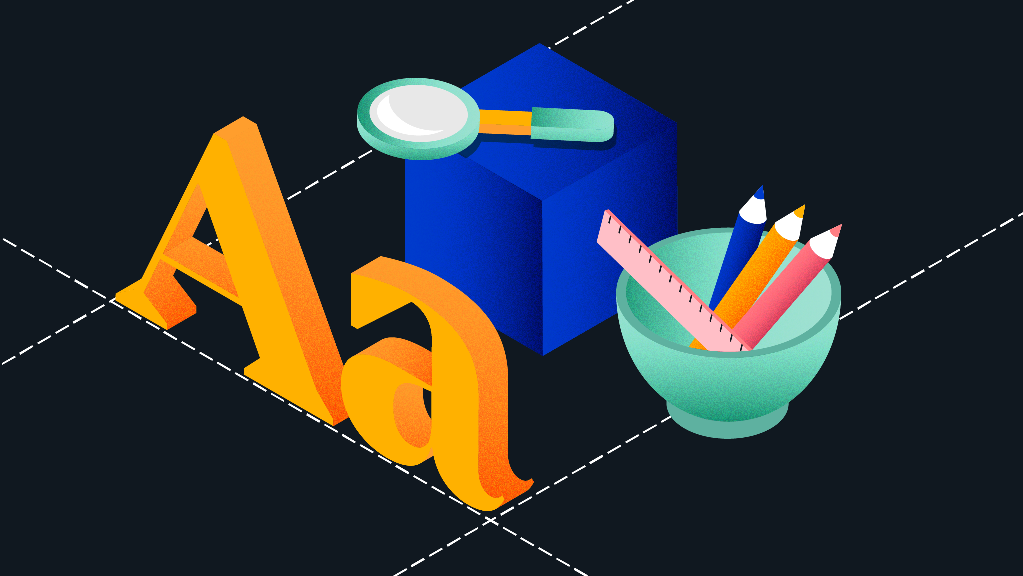 Illustration of custom typography